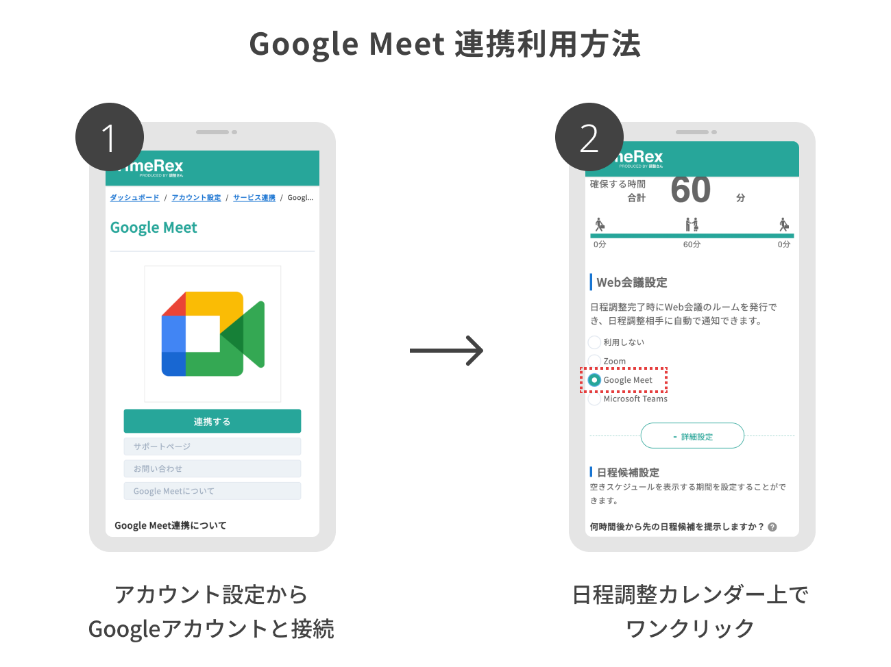 Google Meet連携利用方法